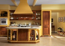 A splash of brilliant yellow for the traditional kitchen 217x155 14 Dreamy Italian Kitchens Laced with Refined Traditional Charm