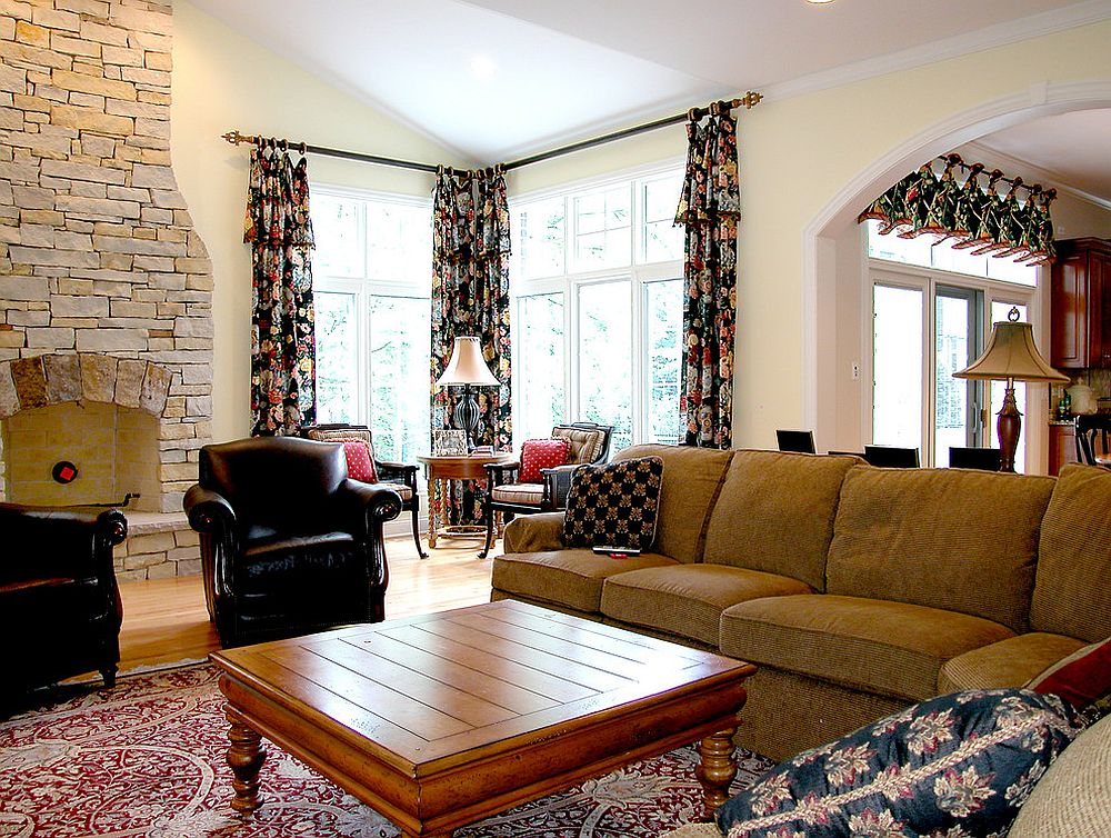 Add some pattern with vibrant curtains