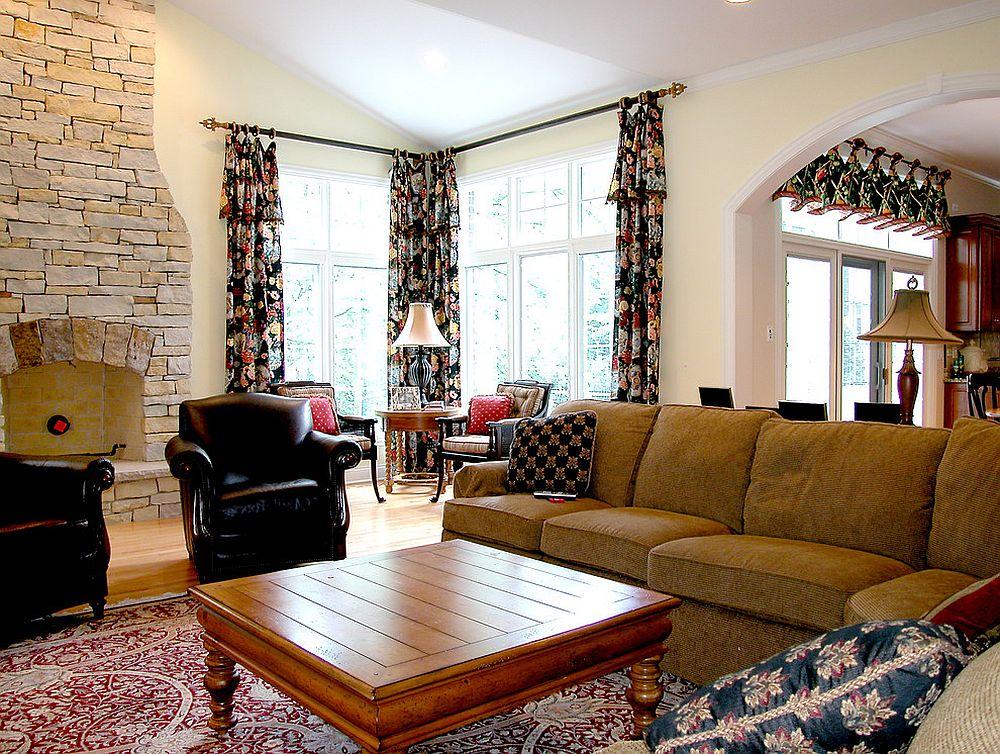 Add some pattern with vibrant curtains [Design: Doreen Schweitzer Interiors]