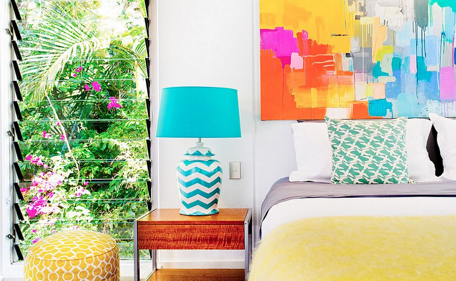 Adding art work to the bedroom walls is all about getting the color scheme right [Design: Touch Interiors]