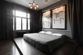 Art work in the bedroom is perfect for those who love a bit of spookiness! [From: Lucy Call Photography]
