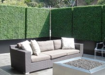 Artifical boxwood hedges are a low-maintenance option