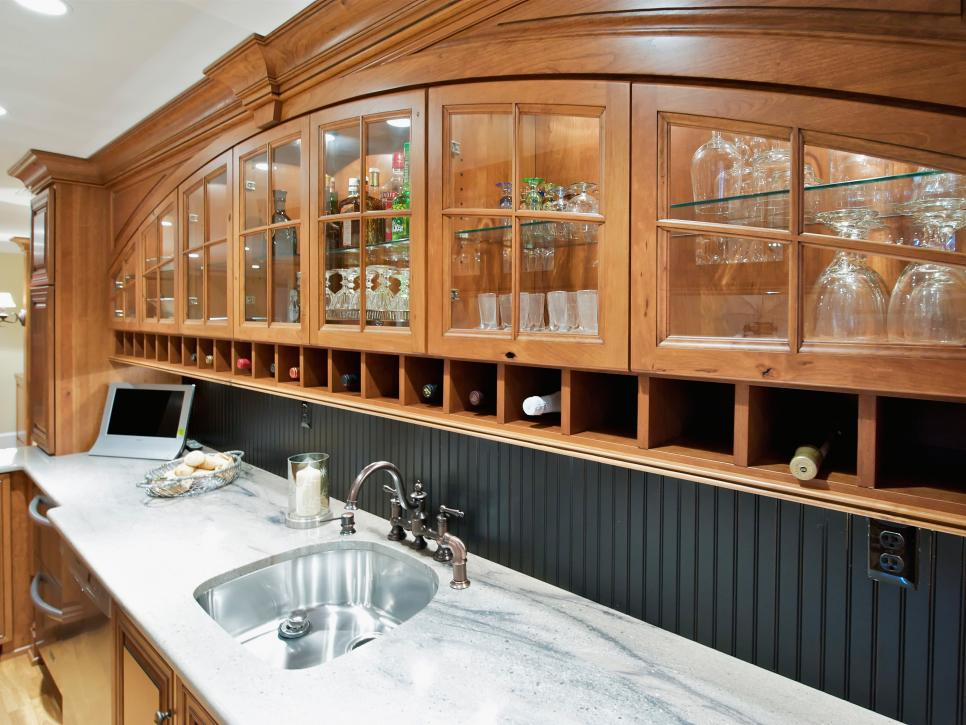 View In Gallery Bar Beadboard Backsplash