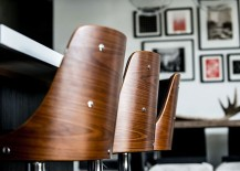 Bar stools bring unique texture to the kitchen