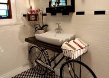 Bathroom Vanity BikeVanity 217x155 13 Crazy Creative DIY Bathroom Vanities