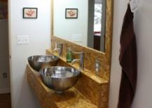 DIY floating bathroom vanity