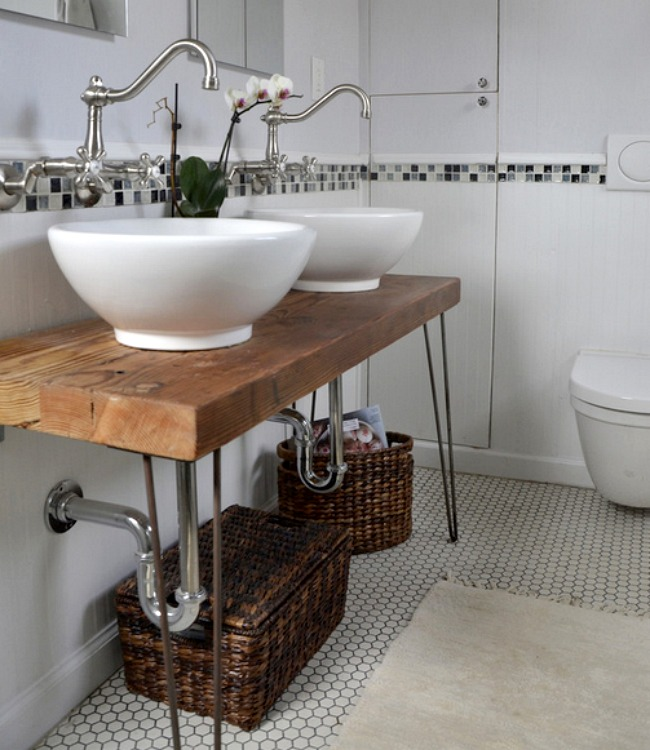 CrazyCreative DIY Bathroom Vanities - Bike bathroom sink ideal modern bathroom design vintage style
