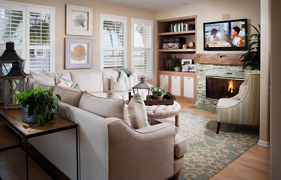 Beach style living room with a relaxing ambiance