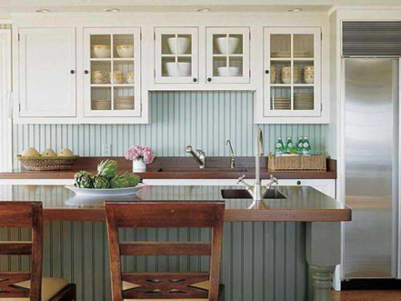 Pretty pastel in a kitchen feels more modern than you'd expect