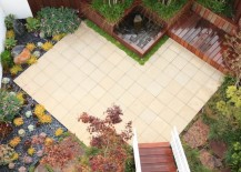 Beautiful patio created with pre-cast concrete pavers