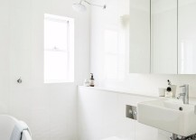 Black-and-white-geometric-floor-tile-for-the-beach-style-bathroom-217x155