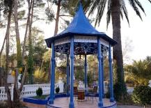 Blue gazebo at a Spanish villa