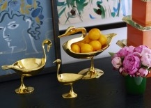Brass bird bowls from Jonathan Adler