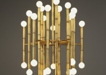 Brass chandelier from Jonathan Adler