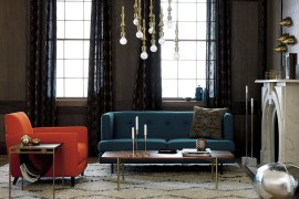 Brass furniture and decor from CB2