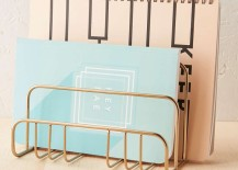 Brass letter holder from Urban Outfitters