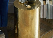 Brass side table from West Elm