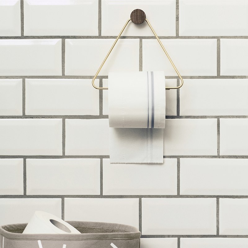 Brass toilet paper holder from ferm LIVING