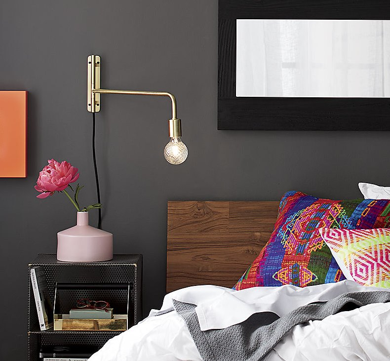 Brass wall sconce from CB2