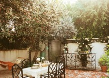 Brick patio courtyard