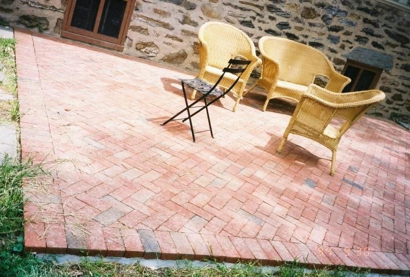 Brick paver patio DIY from eHow