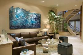 Brilliant Mermaid Art in Aluminum for the modern living room