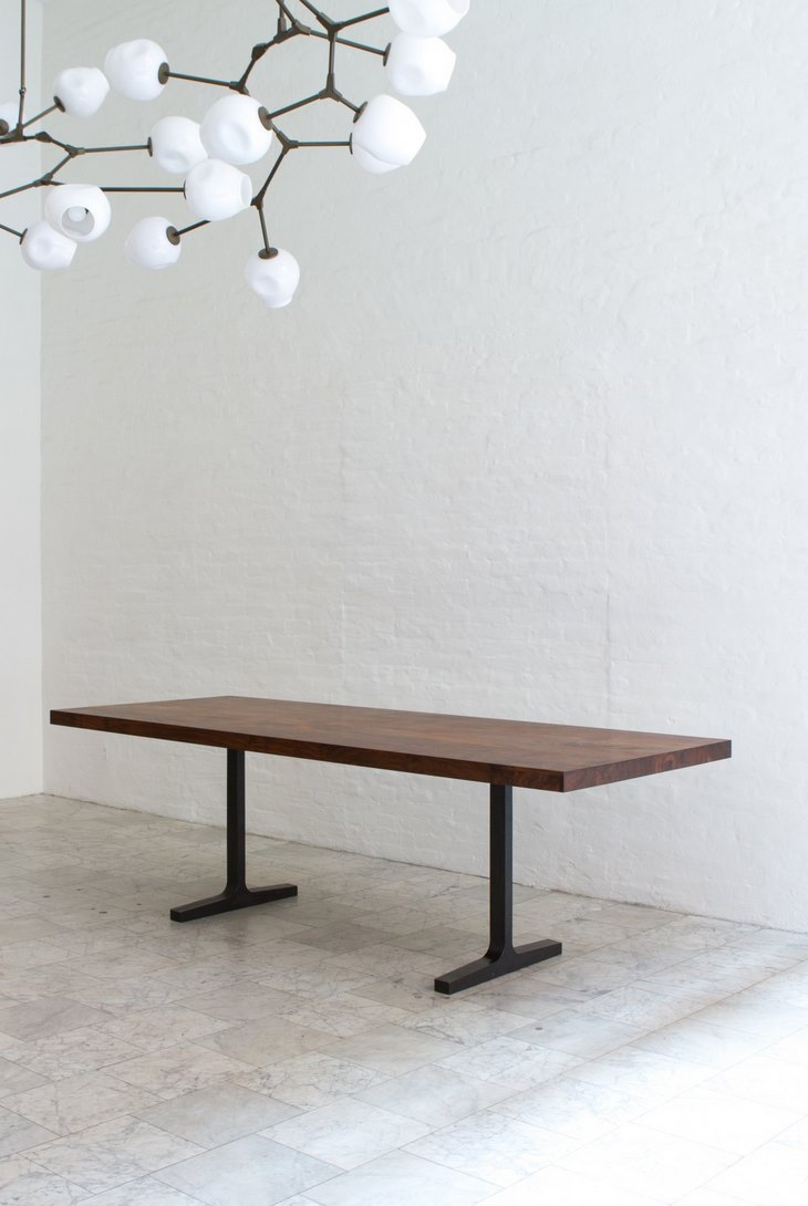 Bronze trestle table from BDDW
