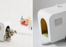 Tiny caravan doghouse