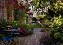 Charming brick patio path