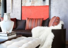 Chic living room with unique wall art