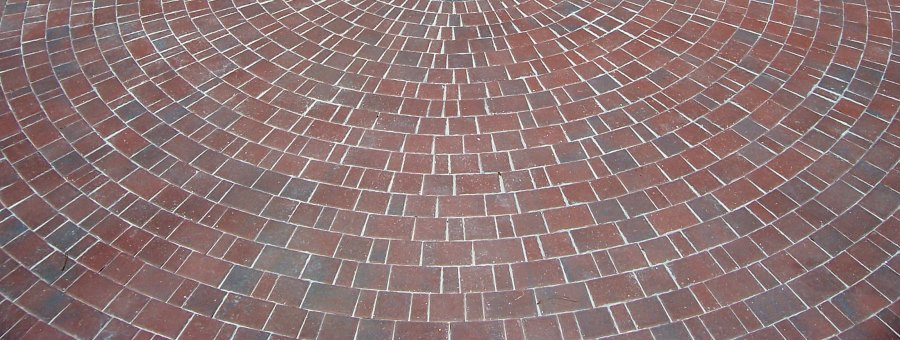 Circular brick design adds style and flair
