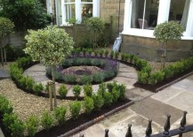 Circular design creates a lovely focal point