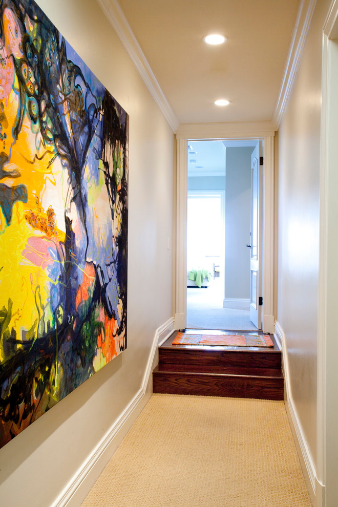 Colorful and abstract wall art for the entry [Design: UnCommon Interiors]
