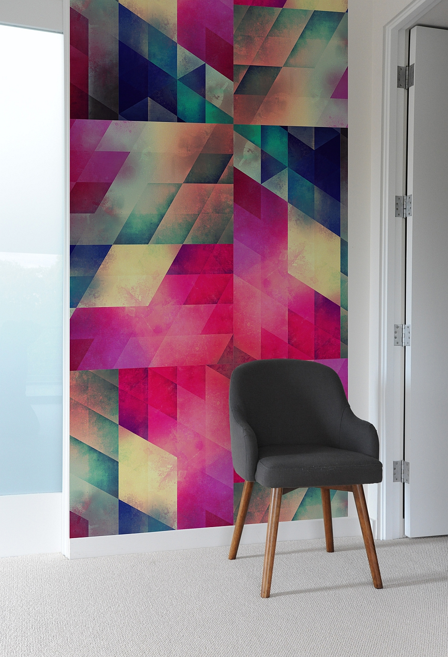 Colorful geometric-patterned wall tiles from Bilk
