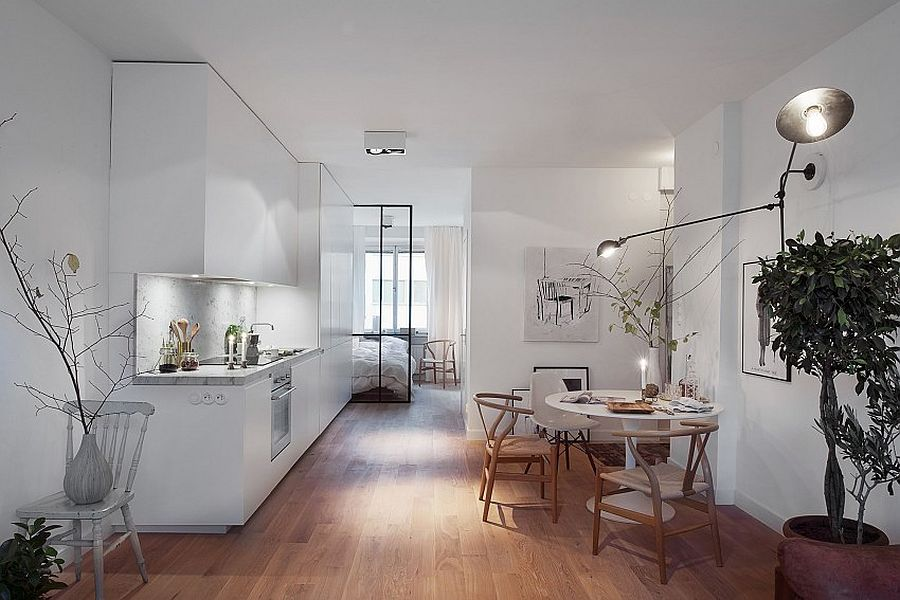 Combining the kitchen with the living and dining areas in style