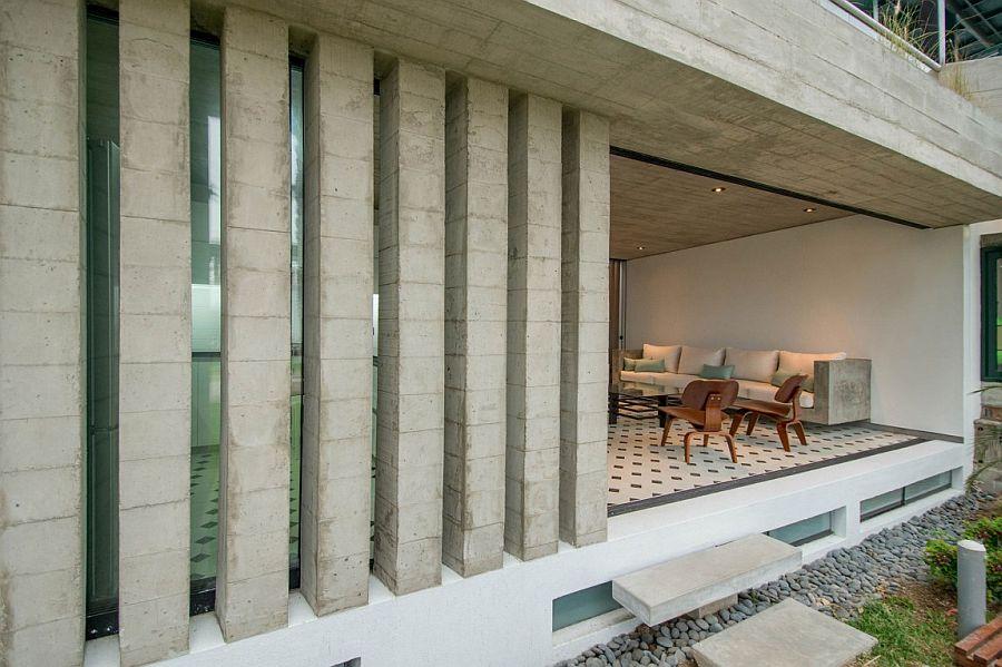 Concrete adds a unique element to the home in Peru