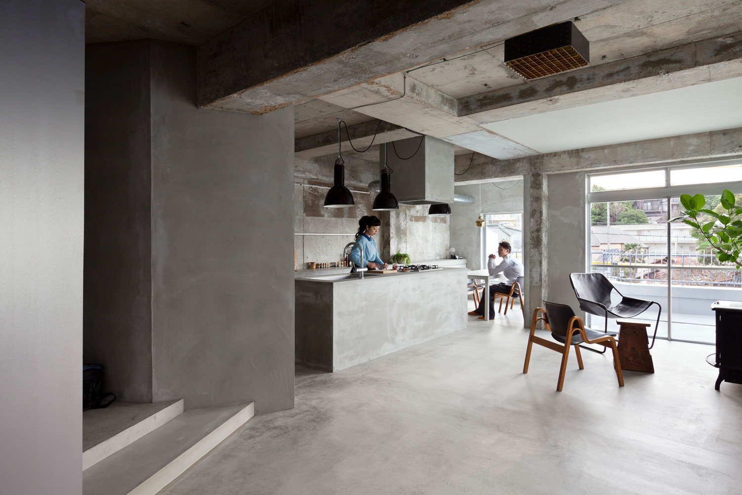 10 industrial loft style designs for Apartment japan design