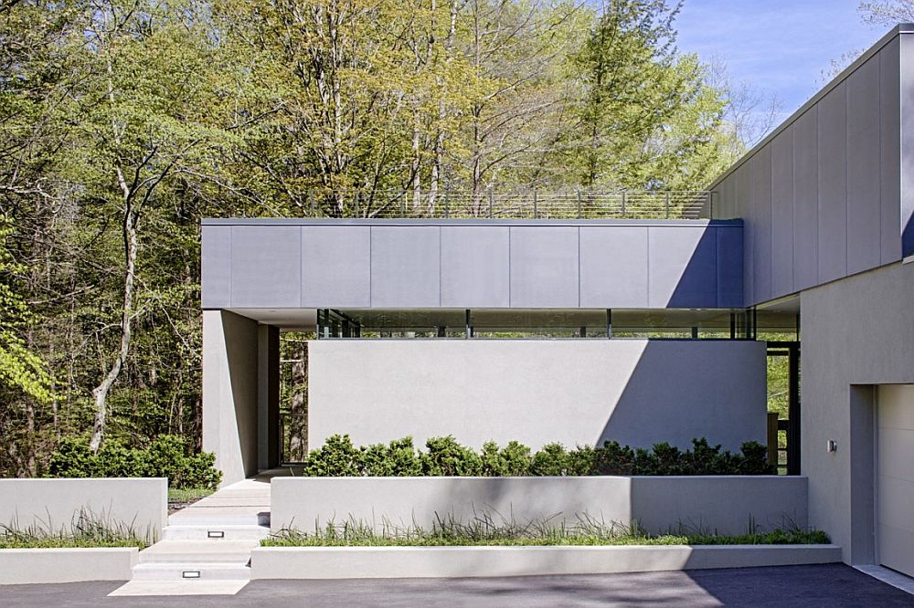 Contemporary exterior of Weston Residence