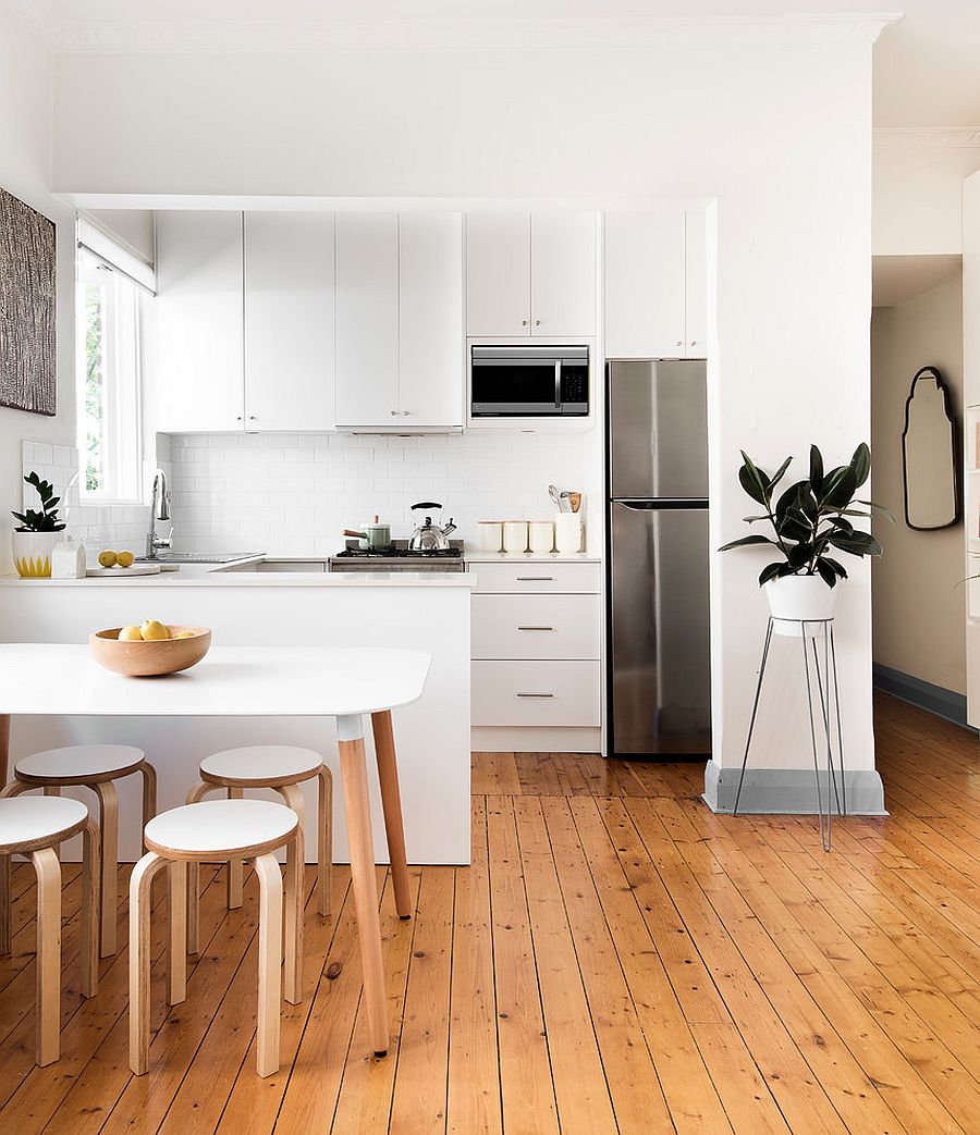 Scandinavian Kitchen Design this is an example of a mid sized scandinavian galley open plan kitchen in sydney View In Gallery Contemporary Kitchen With Scandinavian Minimalism Design Libby Winberg Interiors