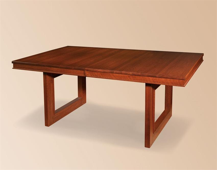 Modern trestle tables for your interior for Modern wooden dining table designs