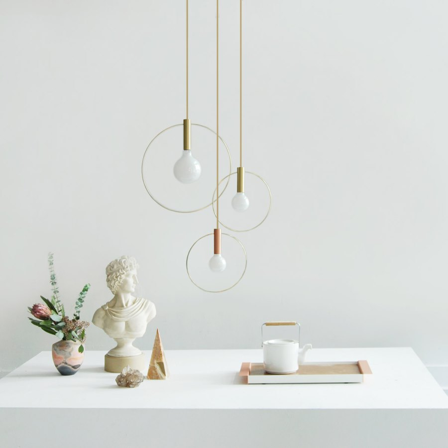 Copper and brass lighting from Ladies and Gentlemen Studio