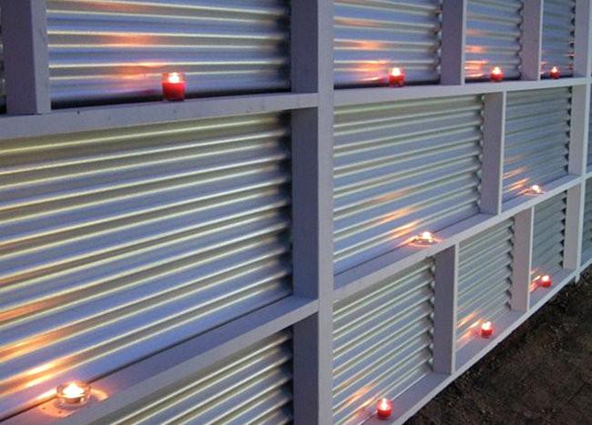 corrugated metal planters