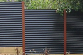 Corrugated metal privacy fence privacy fence Modern Privacy Fence Ideas for Your Outdoor Space Corrugated metal privacy fence 270x180