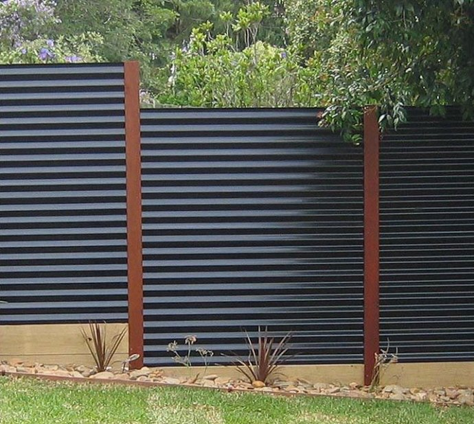 Charming View In Gallery Corrugated Metal Privacy Fence