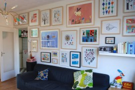 Create a gallery wall with homemade and affordable pieces [From: Ninainvorm]