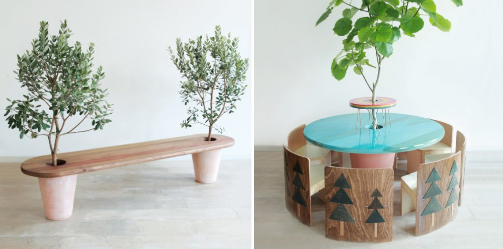 Creative seating from Mono Goen  Tree Bench Ideas for Added Outdoor Seating Creative seating from Mono Goen
