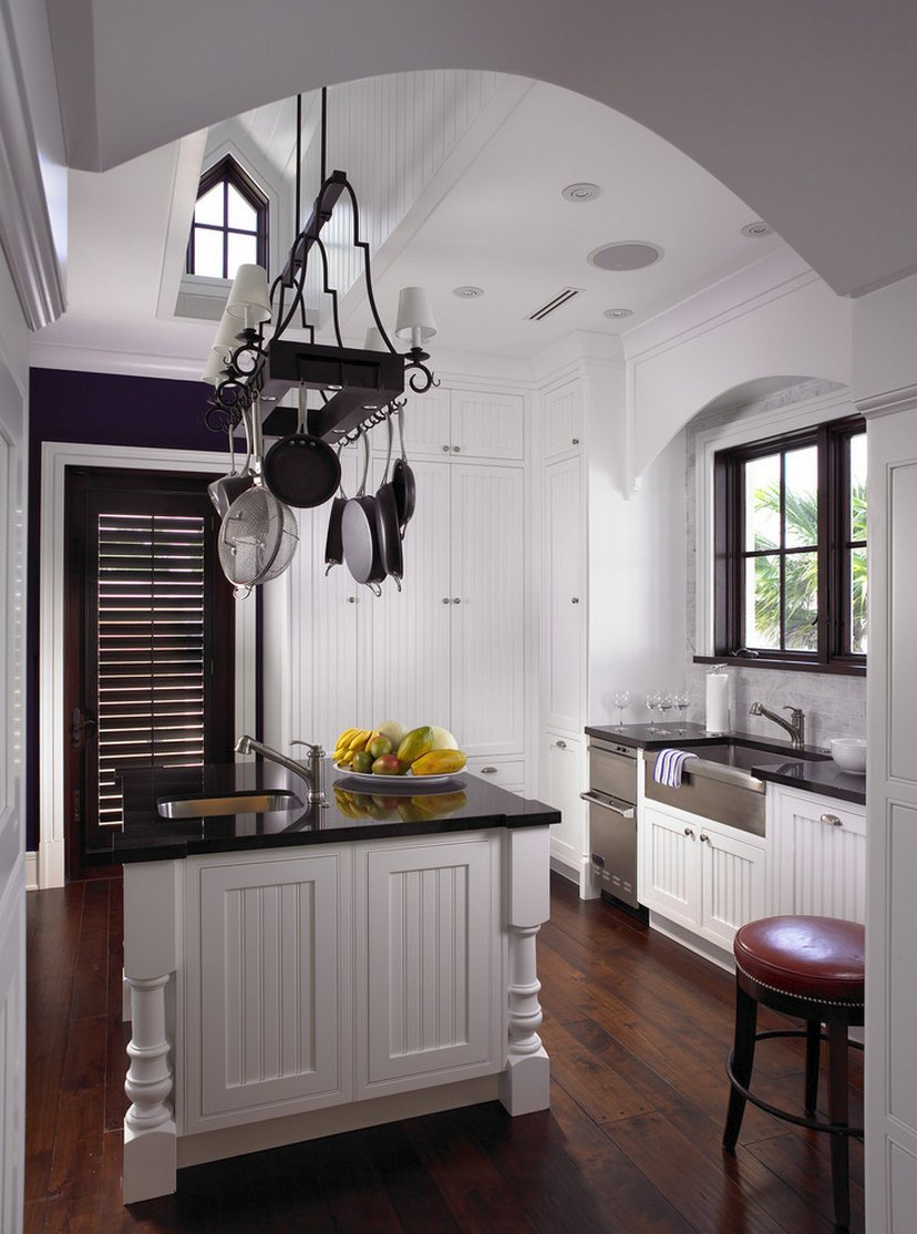 Crisp classic kitchen with beadboard paneling