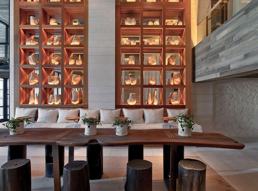 Custom interiors of the hotel with creative design