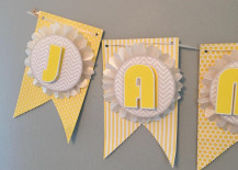 DIY Baby Shower Banner Details 217x155 Make This Pretty DIY Party Banner (Its Much Easier Than It Looks!)