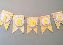 make this pretty diy party banner it s much easier than it looks